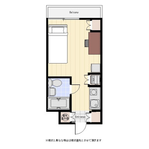1R Mansion in Takanawa - Minato-ku Floorplan