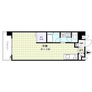 新宿区 新宿 1R {building type} 間取り