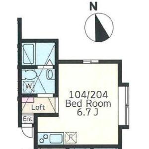 1R Apartment in Kuriya - Kawasaki-shi Tama-ku Floorplan