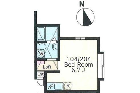 1R Apartment to Rent in Kawasaki-shi Tama-ku Floorplan