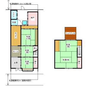 5SK {building type} in Naniwacho - Osaka-shi Kita-ku Floorplan