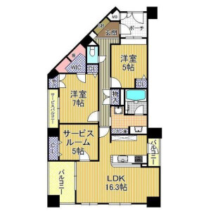 2SLDK {building type} in Ichioka - Osaka-shi Minato-ku Floorplan