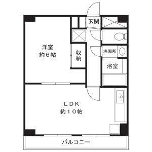 1LDK Mansion in Shimosakunobe - Kawasaki-shi Takatsu-ku Floorplan