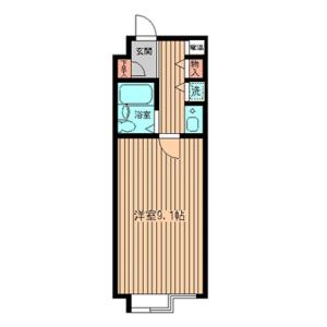 1R Mansion in Midorigaoka - Meguro-ku Floorplan