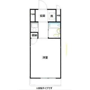 1R {building type} in Nakazato - Yokohama-shi Minami-ku Floorplan