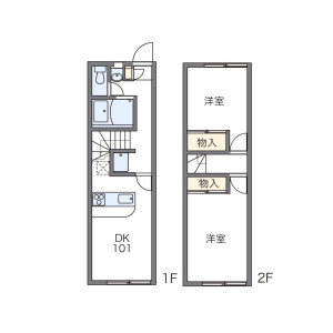 2DK Mansion in Kyokoji - Yao-shi Floorplan