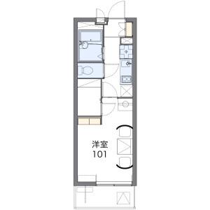1K Mansion in Taicho - Neyagawa-shi Floorplan