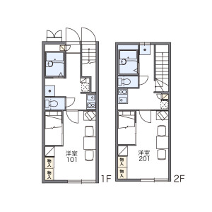 1K Apartment in Matsuzaki - Fukuoka-shi Higashi-ku Floorplan