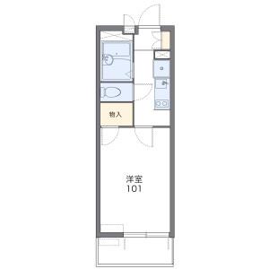 1K Mansion in Shinsakae - Nagoya-shi Naka-ku Floorplan