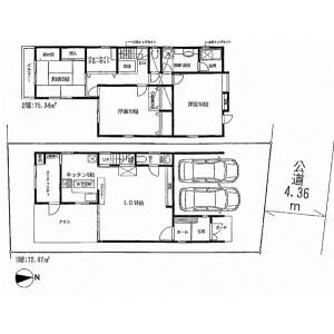3LDK {building type} in Haramachi - Meguro-ku Floorplan