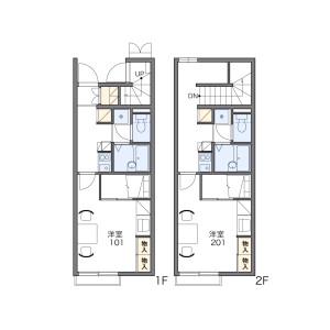 1K Apartment in Higashisonodacho - Amagasaki-shi Floorplan