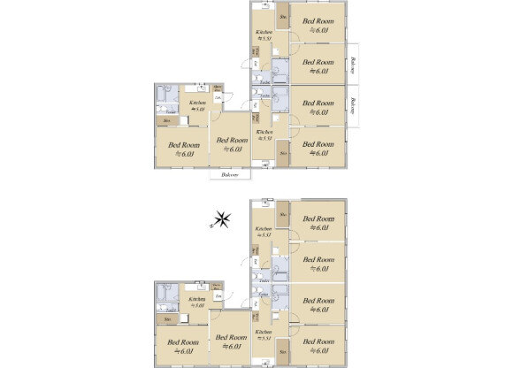Whole Building Apartment to Buy in Funabashi-shi Floorplan