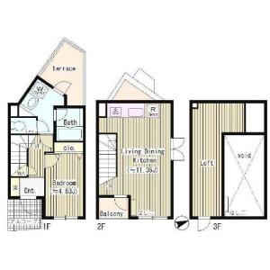 1LDK Mansion in Motoyoyogicho - Shibuya-ku Floorplan