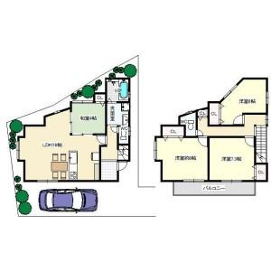 4LDK {building type} in Imamiya - Mino-shi Floorplan