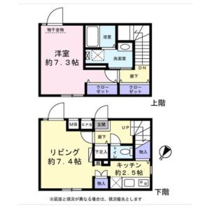 1LDK Apartment in Shimomeguro - Meguro-ku Floorplan