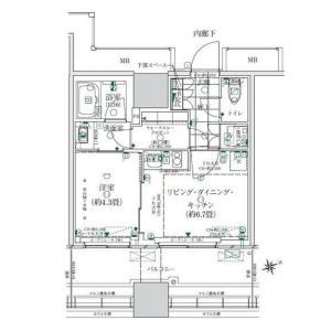 1LDK Mansion in Kaigan(1.2-chome) - Minato-ku Floorplan