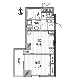 1DK Mansion in Shiba(4.5-chome) - Minato-ku Floorplan