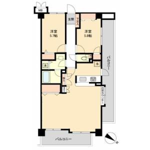 2LDK Mansion in Kyomachi - Kawasaki-shi Kawasaki-ku Floorplan