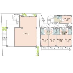 調布市 - 西つつじケ丘 公寓 (整棟)樓房 房間格局