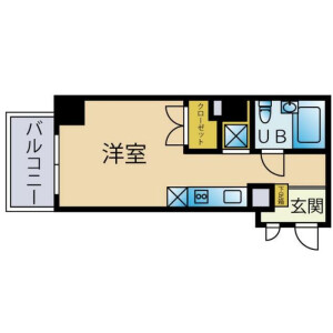 1K Mansion in Ohashi - Meguro-ku Floorplan