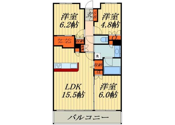 在埼玉市浦和區內租賃3LDK 公寓大廈 的房產 房間格局
