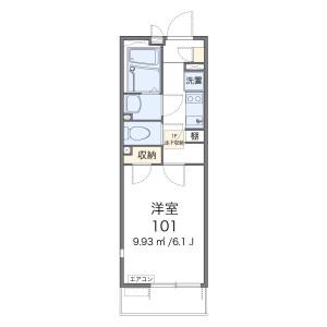 1K Mansion in Omiyacho - Sasebo-shi Floorplan