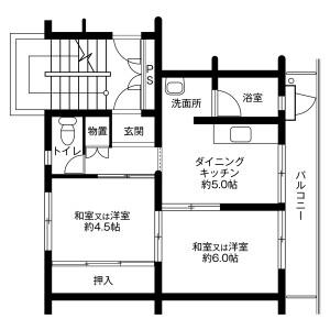 2DK Mansion in Masago - Chiba-shi Mihama-ku Floorplan