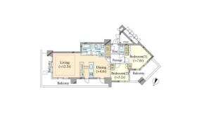 2LDK Mansion in Kinkocho - Yokohama-shi Kanagawa-ku