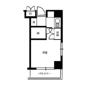 1R Mansion in Suidocho - Shinjuku-ku Floorplan