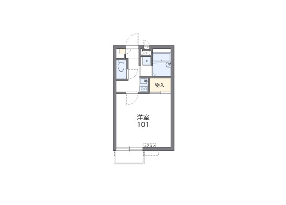 1K Apartment to Rent in Kyoto-shi Yamashina-ku Floorplan