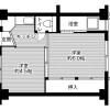 2K Apartment to Rent in Ishioka-shi Floorplan