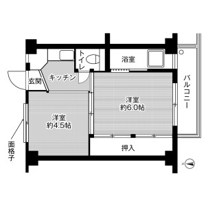 2K Mansion in Tokodai - Ishioka-shi Floorplan