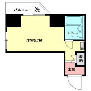 1R Mansion in Kasuga - Bunkyo-ku Floorplan