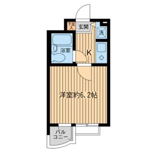 1K Mansion in Sakura - Setagaya-ku Floorplan