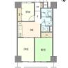 3DK Apartment to Buy in Meguro-ku Floorplan