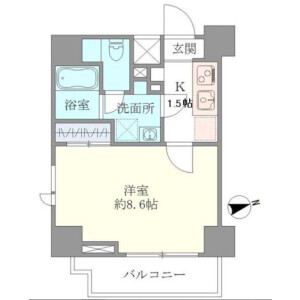 1K Apartment in Shirokane - Minato-ku Floorplan