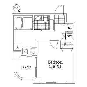 1R Apartment in Nukui - Nerima-ku Floorplan
