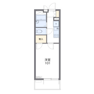 1K Mansion in Soga - Chiba-shi Chuo-ku Floorplan