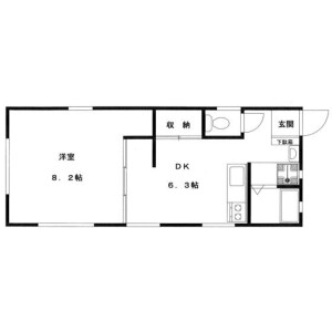 1DK Apartment in Hiroo - Shibuya-ku Floorplan