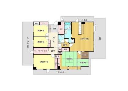 5LDK Apartment to Rent in Osaka-shi Higashisumiyoshi-ku Floorplan
