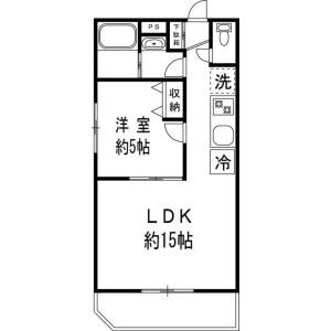 澀谷區恵比寿-1LDK公寓大廈 房間格局