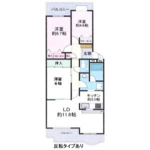 3LDK {building type} in Nobi - Yokosuka-shi Floorplan