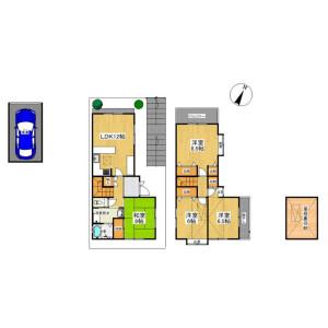 4LDK {building type} in Kamigamo tsunokunicho - Kyoto-shi Kita-ku Floorplan