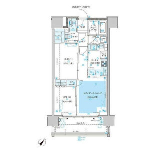 2LDK Mansion in Hommachi - Shibuya-ku Floorplan