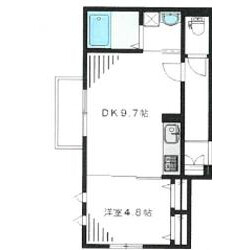 1DK Mansion in Uehara - Shibuya-ku Floorplan