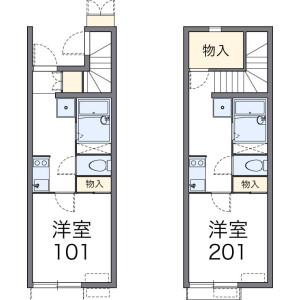1K Apartment in Amanumashinden - Kawagoe-shi Floorplan