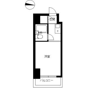 杉並區下高井戸-1R公寓大廈 房間格局
