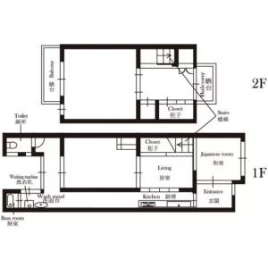 4DK {building type} in Ninintsukasacho - Kyoto-shi Shimogyo-ku Floorplan