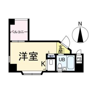 1R {building type} in Bakuromachi - Osaka-shi Chuo-ku Floorplan