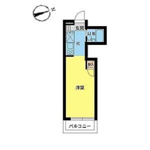 川崎市宮前區犬蔵-1R公寓大廈 房間格局